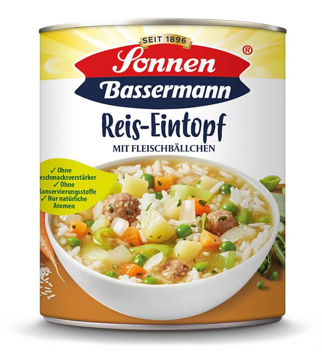 Sonnen Bassermann Reistopf mit Fleischbällchen